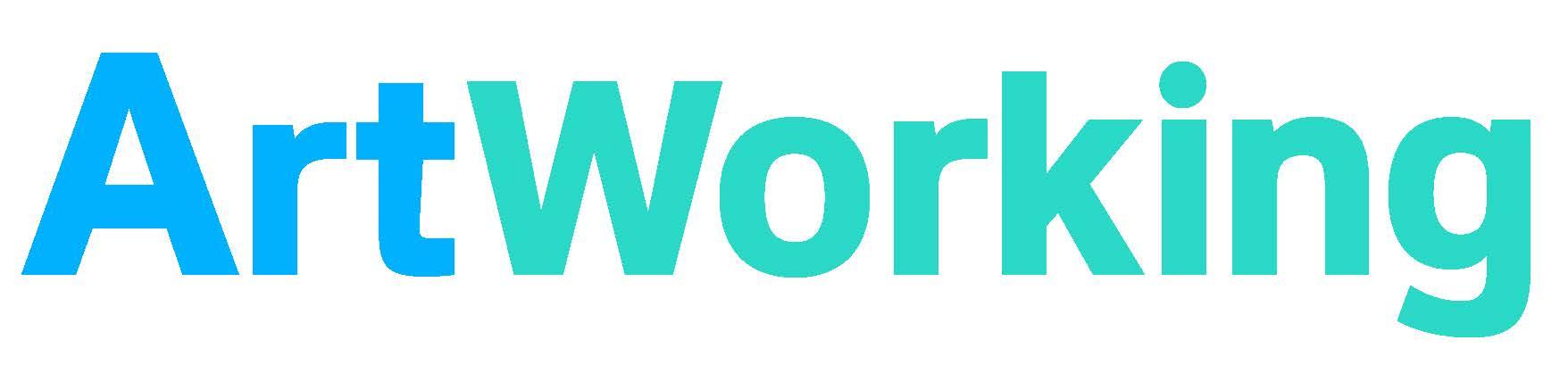 ArtWorking blue green logo banner format copy