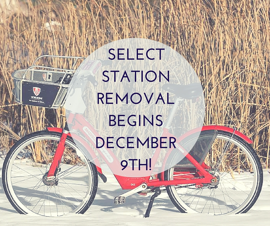Select Station Removal Begins December 9th.