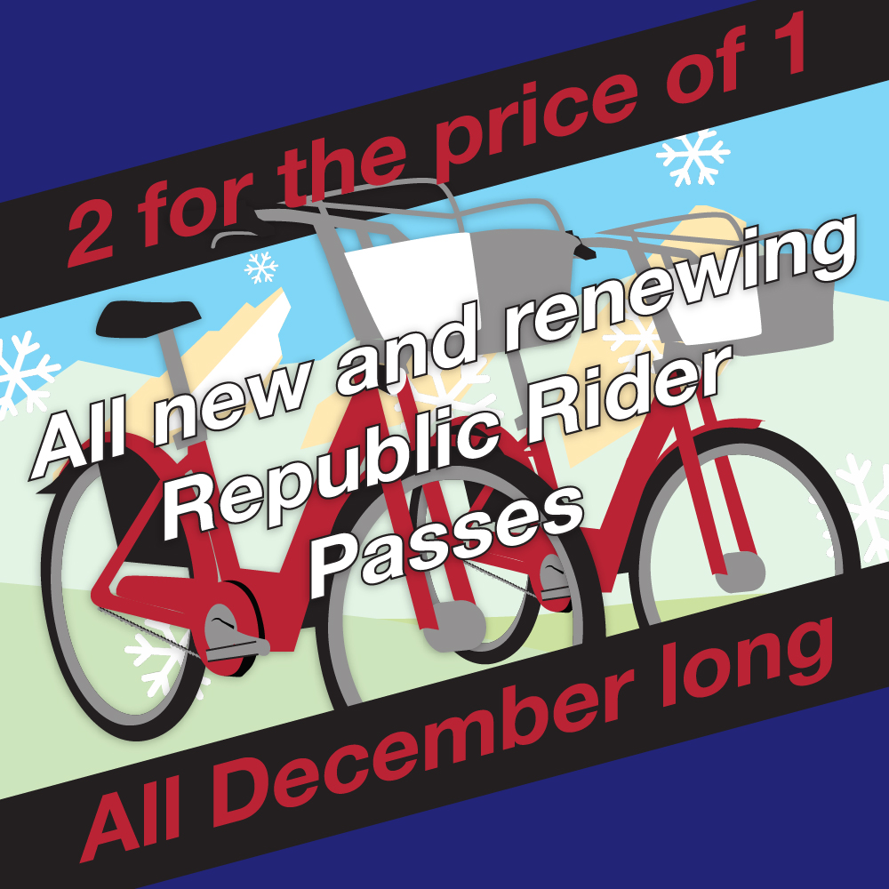2 for 1 Republic Rider Passes 12/16