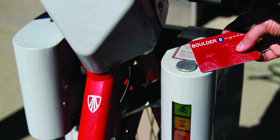 A B-cycle card being used