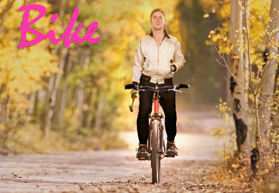 Ryan Gosling's Biking