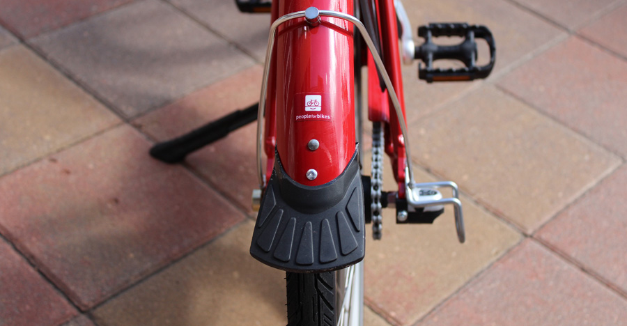 Rear view of a B-cycle fender