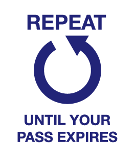Repeat until your pass expires
