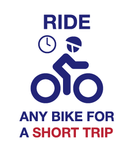 Ride any bike for a short trip