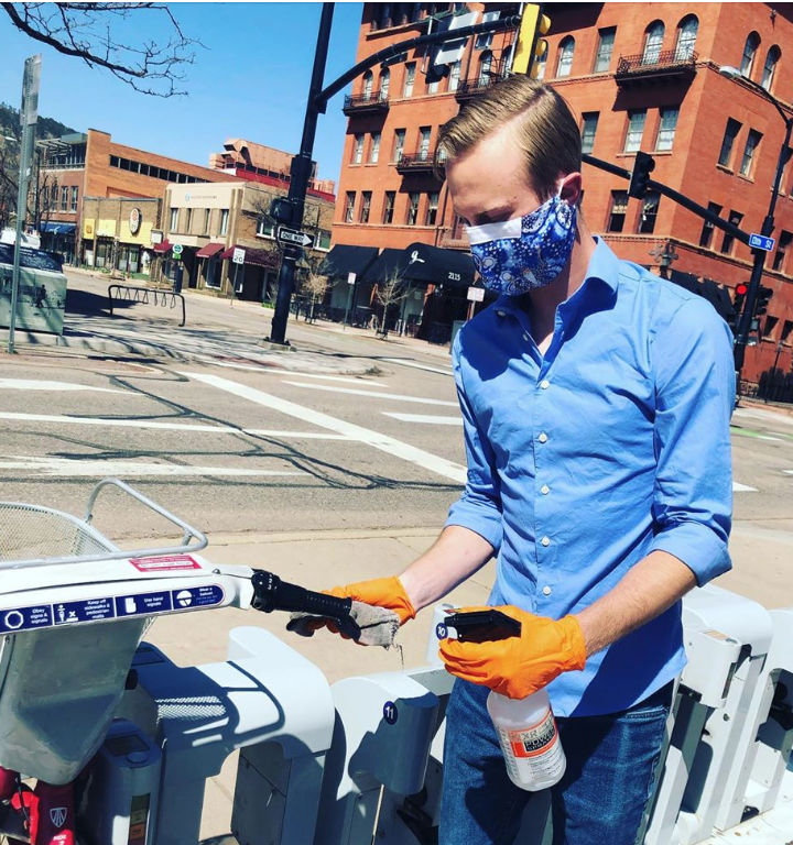 Boulder B-cycle disinfecting bikes for safety
