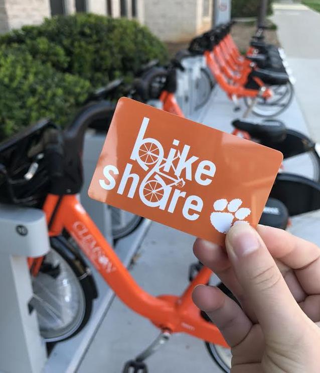 Clemson BikeShare membership card